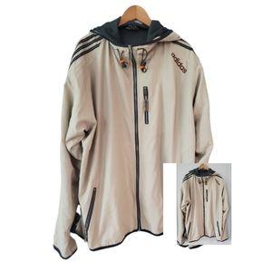 Adidas Tan/Creme Hoodie Jacket Size 2XL